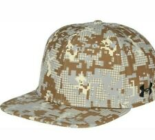 * NWT Under Armour Men's Flat Bill Stretch Fit Cap Hat Digi  Camo size M / LG