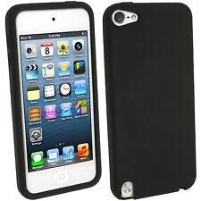 Nero Custodia Silicone per Apple iPod Touch 6ª 5ª Generazione 5G 6G Case Cover