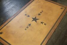 """Beautiful primitive floorcloth area rug 30""""x6' runner. Great quality and price!"""
