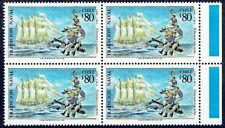 CHILE 1993 STAMP # 1643 MNH BLOCK OF FOUR SAILING SHIP