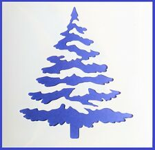 IMAGE  APPROX 18 x 11cm A5 CHRISTMAS TREE /& STARS MYLAR REUSEABLE STENCIL