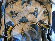 Pottery Barn Kids printed  Batman rolling Backpack  New
