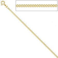Panzerkette 585 Gelbgold 2,1 mm 70 cm Gold Kette Halskette Goldkette Federring