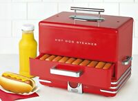 Hot Dog Steamer Cooker Food Warmer Dinner Cooking Machine 24 Buns Steam Picinic