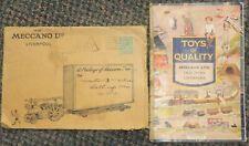 1932 Liverpool England Meccano Toys catalog cover - Perfin - w/railroad catalog