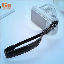 NEW PU camera strap Hand strap Black for Sony a6300 Micro SLR Camera Polariod