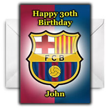 BARCELONA FC Personalised Birthday / Christmas / Card - Large A5
