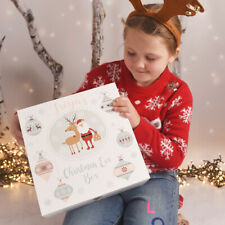 Personalised Large Winter Charm Wooden Christmas Eve Box