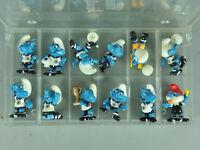 HPF: Fußballschlümpfe 1988 - Komplettsatz (3 Bälle), alle Embleme (100% orig.)