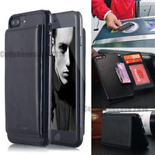 Aicase iPhone 7 7s Plus 6 Case Wallet Flip Leather Stand Credit Card Slot Holder for iPhone 7s Black