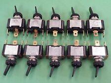10 Pcs SPDT Toggle Switch Black plastic dolly Car Automobile use 10A 12Vdc EV10