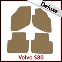 VOLVO S80 Mk1 1998-2006 Tailored LUXURY 1300g Carpet Car Floor Mats BEIGE