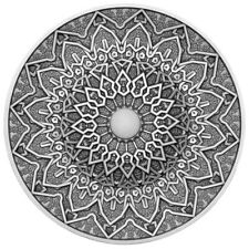 *RARE* FIJI 10$ 2020 Silver 999. 3oz MANDALA ART VI - PERSIAN with JADE inlay