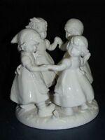 """+ww Goebel Hummel Figur, Hum 348, """"Ringelreihen"""", Ring around the Rosie, weiß"""