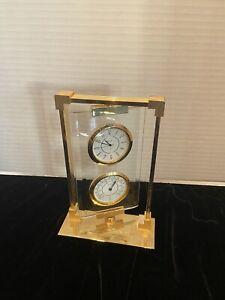 Bolova Crystal Desktop Swivel Clock and Thermometer