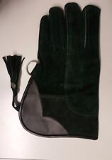 Falconry Glove Suede Leather Double Layer 12 Inches Long (Seaweed Green)