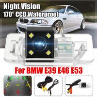 Kit 170° CCD Caméra de Recul Vision Nocturne Vue Arrière IP68 Pour BMW E39 E46