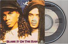 MILLI VANILLI blame it on the rain CD SINGLE card sleeve CARRERE