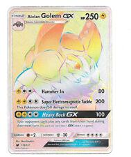 Pokemon Alolan Golem GX Secret Rare Sun & Moon Crimson Invasion 113/111