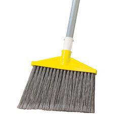 "Rubbermaid FG638500GRAY Broom, 1"" Dia Aluminum Handle,Flagged Polypropylene Fill"