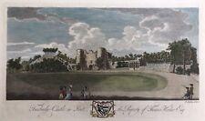 1780 Antiguo Letra Grande: Castillo de Tonbridge, Kent después de Richard Godfrey