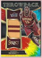 ANTHONY BENNETT 2016-17 PANINI SELECT THROWBACK TIE-DYE PRIZM PATCH #13/25