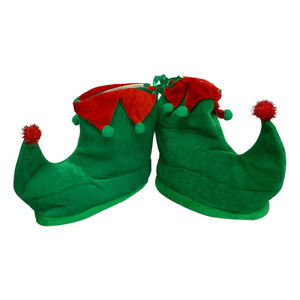 Green Elf Shoes With Red Details Christmas  X-Mas Costume Halloween Gift Santa