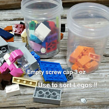 5 Screw Cap 3 ounce jars Crafts tiny parts Beads Jewelry Lego Marbles 5314 Usa