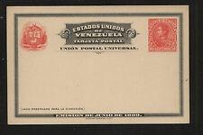 Venezuela  postal card 10 cents red   unused  nice item                   MS1217