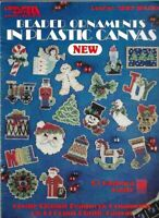 Beaded Ornaments in Plastic Canvas Leisure Arts 1397 Christmas Holiday 1992
