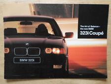 BMW 3 Series Coupe 323i 1995 Range UK Market brochure prospekt - E36 323 i
