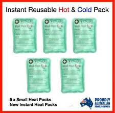 5 X NEW INSTANT REUSABLE HEAT PACKS HOT & COLD PACKS - SMALL HEAT PACK