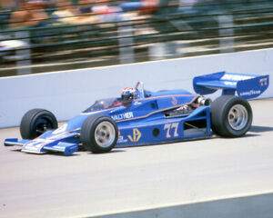 SALT WALTHER 1979 #77 INDY 500 CAR RACING ON TRACK 8X10 GLOSSY PHOTO