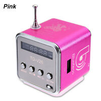 Mini Speaker Portable Micro SD/TF Music Player Digital LCD Sound FM Radio MP3