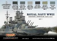 LIFECOLOR CS33 Royal Navy WWII Eastern Early War Set #1 Camouflage Paint Set