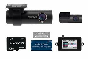 BlackVue DR900S-2CH with 128GB Micro SD Card with Power Magic Pro Hardwiring Kit