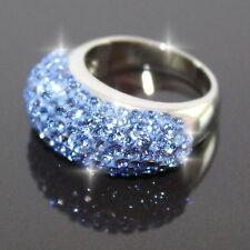 Damen Kristall Kuppel Edelstahl Fingerring,elegant,Neu,Ringe,Modeschmuck,Zirkon