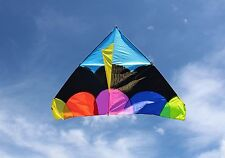 Giant Delta Apollo Kite - Delta Shape Premium Large 6ft Wide Kite 44 yds Line