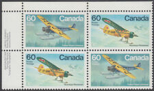 Canada - #972a Bush Aircraft Plate Block - MNH