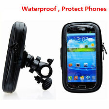 "Motorcycle Bike Handlebar 5.5"" Waterproof Bag Case Cell Phone GPS Mount Holder"