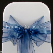 100 ORGANZA SASHES, CHAIR COVER BOW SASH FOR SALE UK SELLER