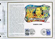 DOCUMENT CEF PREMIER JOUR  1985  TIMBRE  N° 2366 - 2367 LA MUSIQUE EUROPA