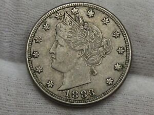 XF 1883 w/ Cents LIBERTY V Nickel. #32