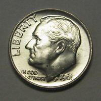 Gorgeous 1961-D Silver Roosevelt Dime Grading NICE BU     DUTCH AUCTION