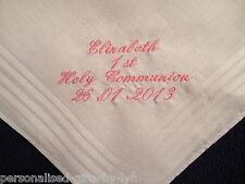 Personalised 1st Holy Communion Handkerchief