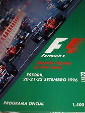 ESTORIL GRAND PRIX PORTUGAL F1 PROGRAMME 1996 PEDRO COUCEIRO MANUEL MONTEIRO JMB