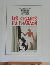 Herge serigraphie Tintin Cigares du Pharaon noir et blanc 2000 ex Moulinsart
