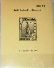 Spain españa Catalunya 1937 Unlisted bloque rafel de Casanova estatua Flag mnh