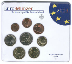 Germany 2003 (A) - Official (BU) Euro Coin Set