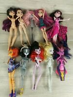 Lot of 10 Monster High - Ever After High Dolls for Parts missings hands feet